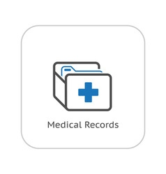 Medical Records and Medical Services Icon vector