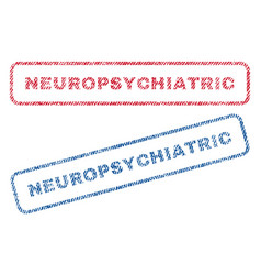 Neuropsychiatric textile stamps vector