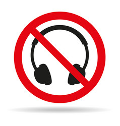 No headphones signs on white background vector