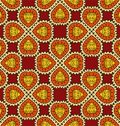 Orange Seamless Floral Pattern vector