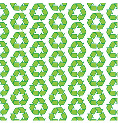 Pattern background recycle icon vector