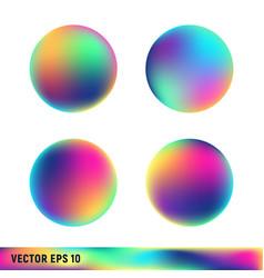 Rainbow titanium circle spheres vector