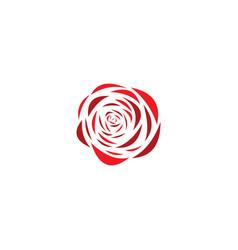 rose flower logo stylized icon design vector image