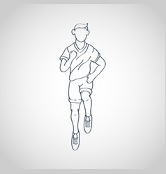 run running man icon logo vector image