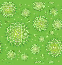 seamless repeat pattern with chakra anahata vector image