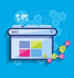 Search engine optimization with template webpage vector