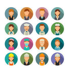 set icon character cook builder business vector image