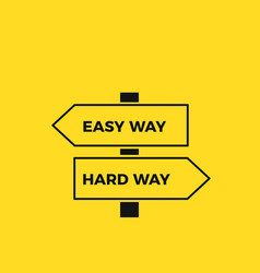 simple and complex way road signs vector image