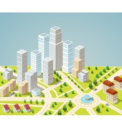 Skyscrapers and office buildings vector