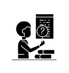 software testing black concept icon vector image