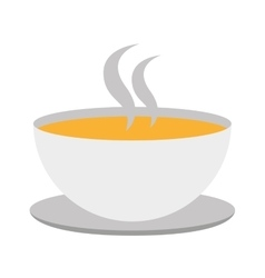 Soup cup isolated icon design vector