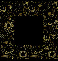 space luxury seamless frame vector image