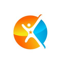 Success logo design graphic template vector