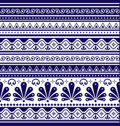 talavera poblana seamless pattern mexico vector image