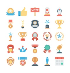 Vote and Rewards Colored Icons 2 vector image