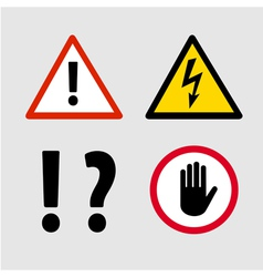 Warning Signs vector image