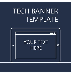 Web Banner with Tablet vector