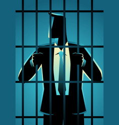 White collar criminal vector