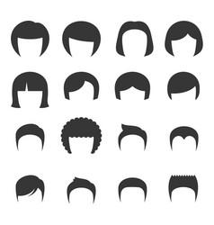 woman and man hair set vector image