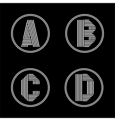 Capital letters A B C D From white stripe in a vector image vector image