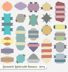 Color Ribbon and Banner Labels vector image vector image