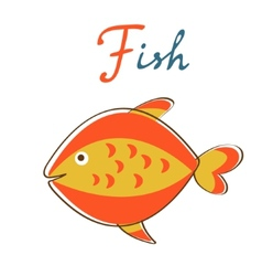 F is for Fish format vector image