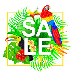 sale tropical composition vector image vector image