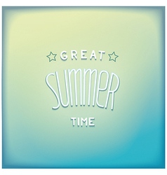 Summer airy lettering design vector image vector image
