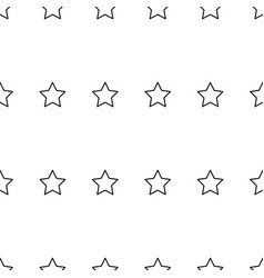 black star line seamless on white background vector image vector image