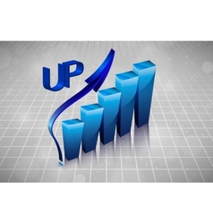 3d business graph in the drawings vector image