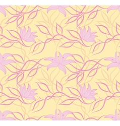 Art flower pattern vector image vector image