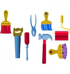 builders tools vector image vector image