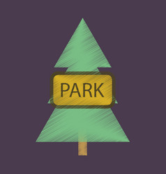 flat icon in shading style city park vector image