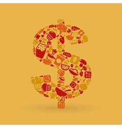 Food dollar vector image vector image