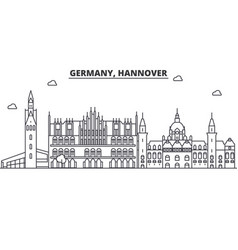 germany hannover architecture line skyline vector image