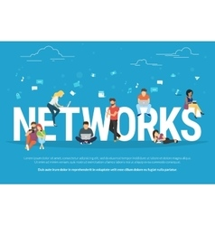 Networks concept vector image vector image