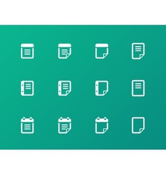 Notepad and sticky note icon set vector image vector image