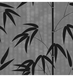 Seamless pattern drawn japanese style bamboo on a vector image vector image