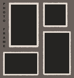 Set of Photo Frames with Rough Edges for Yo vector image vector image