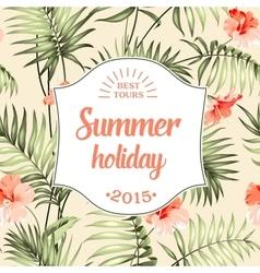 Tropical holiday card vector image