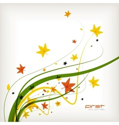 Autumn leaves nature background vector image vector image