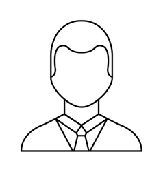 businessman avatar line icon vector image vector image