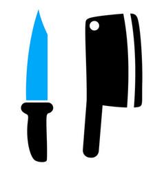 butchery knives icon vector image
