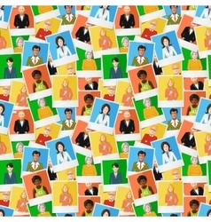 Many different polaroid instant photos with flat vector image