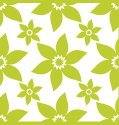 seamless floral pattern repeated flowers vector image