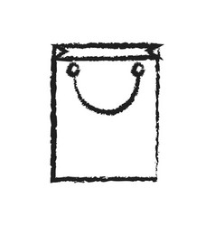 shopping chart icon line art out line vector image