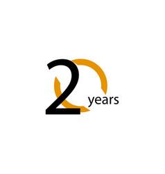 20 years anniversary half circle template design vector