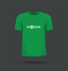 A green t-shirt vector