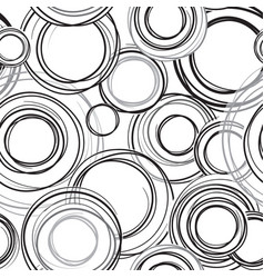 abstract circle line geometric seamless pattern vector image