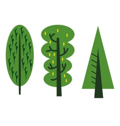 abstract tree cartoon vector image